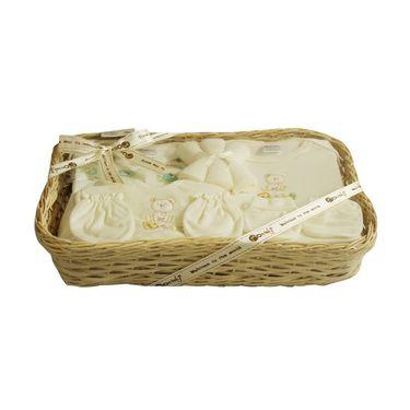 Montaly Rectangle Shape 9 Piece Baby Gift Set - Cream