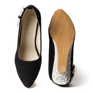 Branded Suede Leather Ballerinas BLS-006-BK