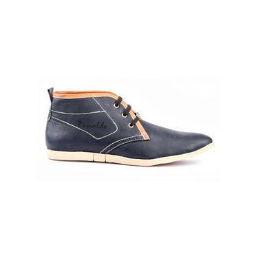 Kohinoor Footwears Nubuck Leather Casual Shoes BT0101_Black