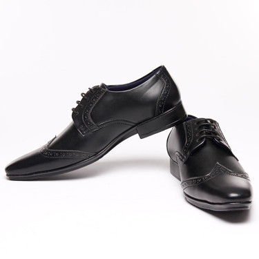 Bacca bucci Faux Leather Formal Shoes - Black-4317