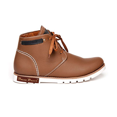 Bacca bucci  Leather  Boots - Tan-4385