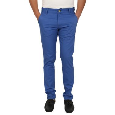 Pack of 2 Blimey Slim Fit Cotton Chinos_Bf20 - Blue & Black