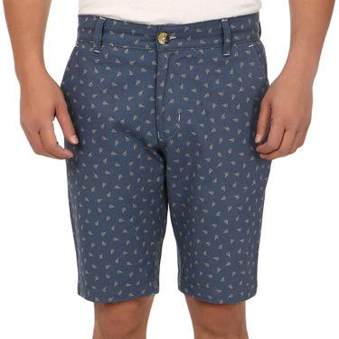 Blimey Regular Fit Cotton Shorts_Bf51 - Blue