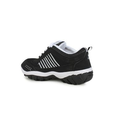 Do Bhai Synthetic Leather Sports Shoes Bindaas-Black