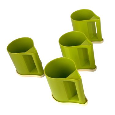 Kitchen Duniya Set Of 4 Bliss Coffee Mugs-Trendy Green