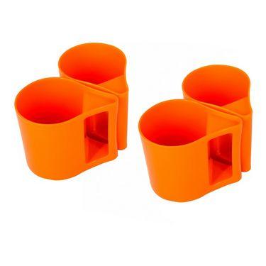 Kitchen Duniya Set Of 4 Bliss Coffee Mugs-Candy Orange
