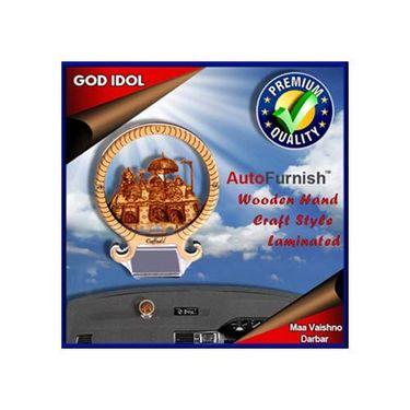 Branded God Idol Maa Vaishno Darbar Dashboard Wooden Hand Craft Style