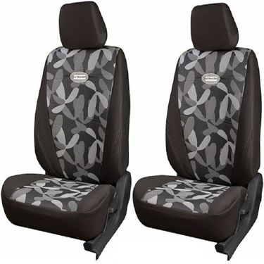 Branded Printed Car Seat Cover for Honda Brio - Grey