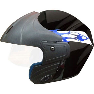 Branded Stylish Black Off-road Helmet - Blue