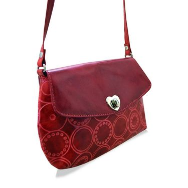 Arpera Genuine Leather Sling Bag C11517-3 -Red