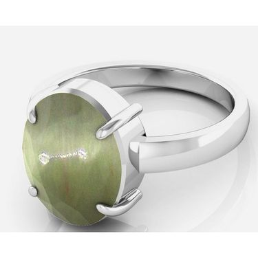 Kiara Jewellery Certified Lehsuniya 3.0 cts & 3.25 Ratti Cats Eye Ring_Catrw