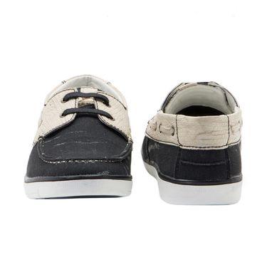 Randier Canvas Black & Beige Casual Shoes -Cfl010