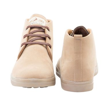 Randier Synthetic Leather Tan Sneakers Shoes -Cfl011