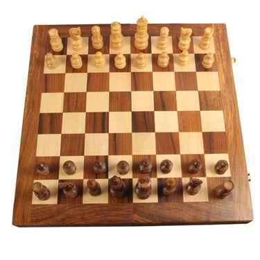 AVM 3inch Alpine Chessmen (3 inch Border, Brown Yellow)