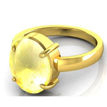 Kiara Jewellery Certified Sunehla 3.0 cts & 3.25 Ratti Citrine Ring_Citry