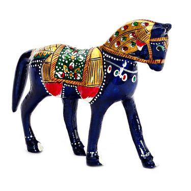Aapno Rajasthan Horse Metal Showpiece-CMC15311