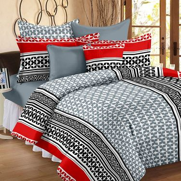 Set of 2 Double Bedsheet with 4 Pillow Cover-1231-1253