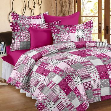 Storyathome 100% Cotton Double Bedsheet With 2 Pillow Cover-CN1243