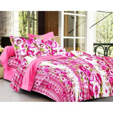 Set of 2 Double Bedsheet with 4 Pillow Cover-1270-1246