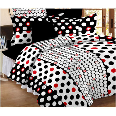 Set Of 2 Double Bedsheet With 4 Pillow Cover-CN_1205-CN1227