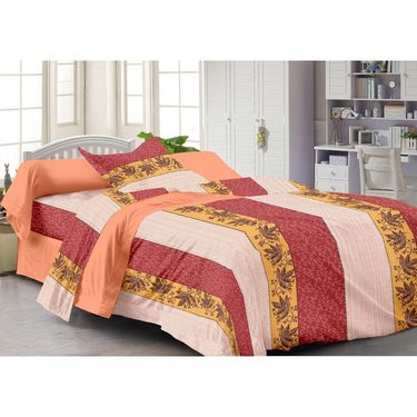 Storyathome 100% Cotton 4 Double & 4 Single Bed Sheets with 12 Pillow Covers-2002-1216