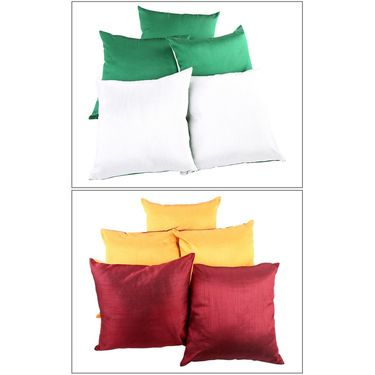 Pack of-10  Square Cushion Cover Combo-COM00168