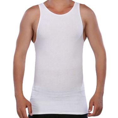 Pack of 2 Blended Cotton Vests For Men_Combo 1 - Grey & White