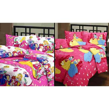 eCraftIndia Set of 2 Designer Printed Single Bed Reversible AC Blanket-COMHFD103