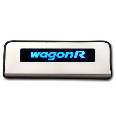 Set of 4 pcs Car Door Sill Scuff Plate Foot Step for WagonR - Blue LED