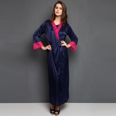 Set Of 8 Clovia Satin Solid Nightwear_NSM292P08