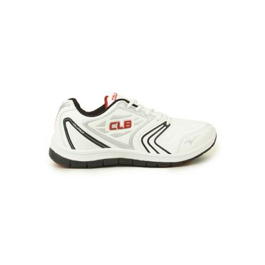 Columbus Mesh Sports Shoes Columbus FM-12 -White & Black & Red