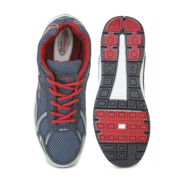 Columbus Mesh Sports Shoes Columbus FM-9 -Navy Blue & Red