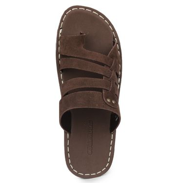 Columbus Synthetic Leather Brown Sandals -2602