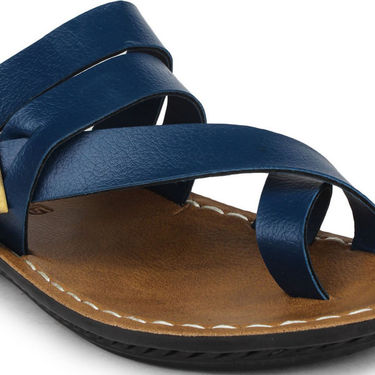 Columbus Synthetic Leather Blue Sandals -2701
