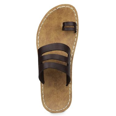 Columbus Synthetic Leather Brown Sandals -2702