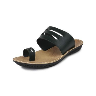 Columbus Synthetic Leather Green Sandals -2702