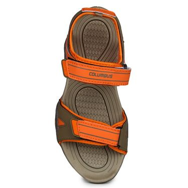 Columbus PU Brown & Orange Casual Floaters -Ab-772