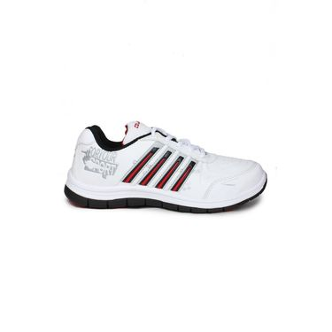 Columbus White & Black & Red Sports Shoe C20