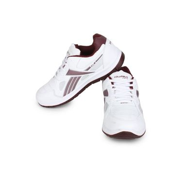 Columbus White & rust Sports Shoe C25