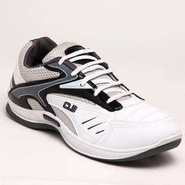 Columbus PU Sports Shoes - White & Grey-1552