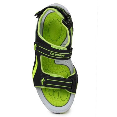 Columbus PU Grey Black & Green Floater -S-101