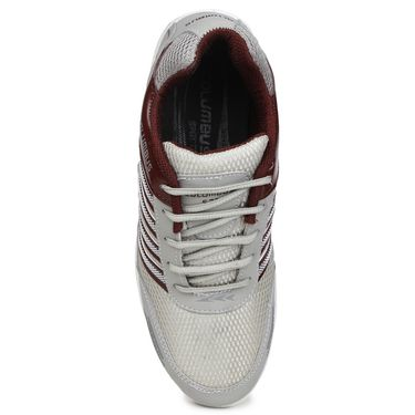 Columbus Grey & Maroon Sports Shoe C61