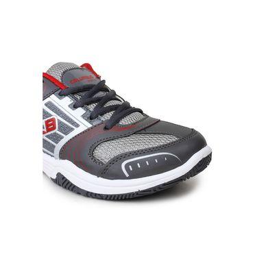 Columbus Grey & Red Sports Shoe C33