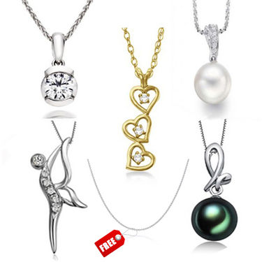 Combo of 5 Kiara Sterling Silver Pendents_C5