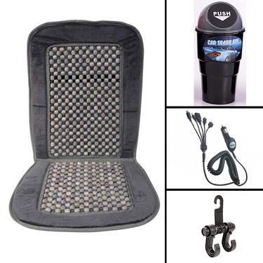 Combo of Seat Bead with 3 Multi Utility Accessories