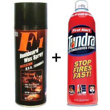 Combo of Car DashBoard Shine SPRAY + Fire Extinguisher Fire Stop Fire Security