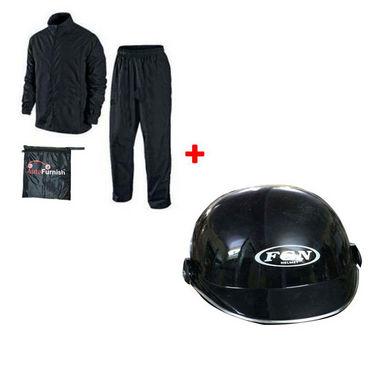 Rainy Day Combo - Helmet + Rain Coat FGN