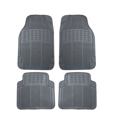 AutoStark Grey Rubber Car Floor / Foot Mats