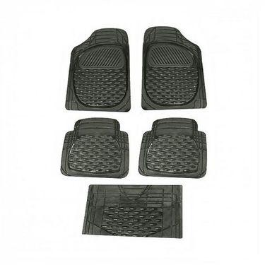 AutoStark SET OF 5 Premium Smoke Black Car Floor/Foot Mats