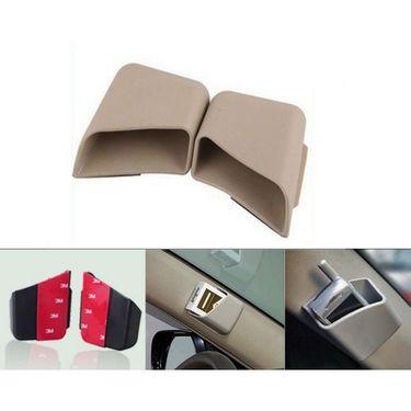 AutoStark Car Pillar Storage Pockets Set Of 2 - Beige